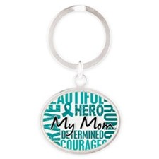 D Mom Oval Keychain