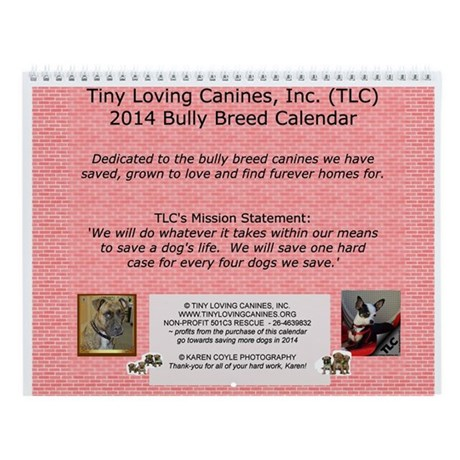 2014 Bully Breeds TLC Calendar