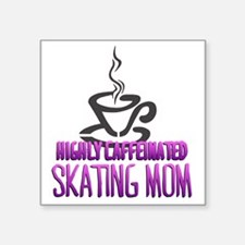 "caffeine Square Sticker 3"" x 3"""