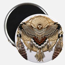 Red-Tailed Hawk Dreamcatcher Mandala Magnet