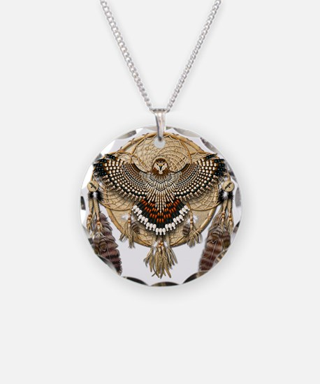 Red-Tailed Hawk Dreamcatcher Necklace