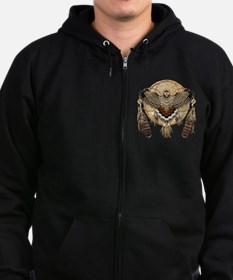 Red-Tailed Hawk Dreamcatcher Man Zip Hoodie