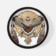 Red-Tailed Hawk Dreamcatcher Mandala Wall Clock