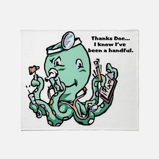 dr Octopus Throw Blanket