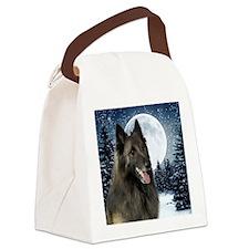 BTWinterTile Canvas Lunch Bag