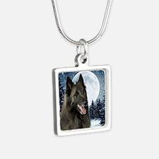BTWinterTile Silver Square Necklace