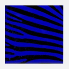 zebra blue Tile Coaster