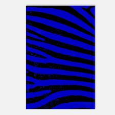 zebra blue Postcards (Package of 8)