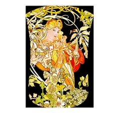 NOOK-MUCHA MARG COLOR Postcards (Package of 8)