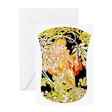KINDLE-MUCHA-MARG CLR Greeting Card