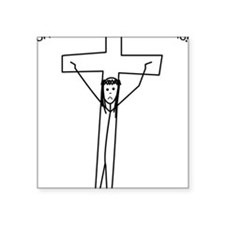 "Chris Square Sticker 3"" x 3"""