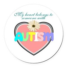 Autism heart Round Car Magnet