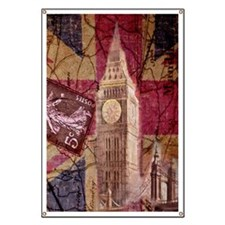 vintage British Flag London UK fashion Banner