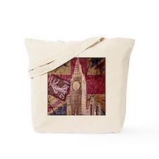 vintage British Flag London UK fashion Tote Bag