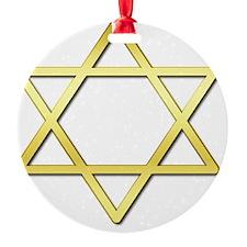 StarOfDavidA04 Round Ornament