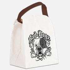 American Bull Dog Canvas Lunch Bag