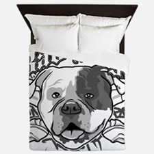 American Bull Dog Queen Duvet