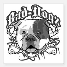"American Bull Dog Square Car Magnet 3"" x 3"""