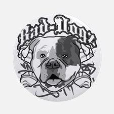 American Bull Dog Round Ornament