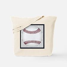 baseball_bluepinstripes Tote Bag