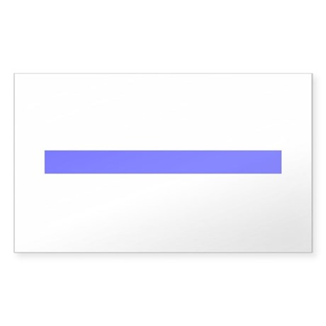 Thin Blue Line Rectangle Sticker