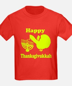 Happy Thanksukkah 3 yellow T-Shirt