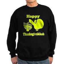 Happy Thanksukkah 3 yellow Sweatshirt
