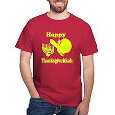 Happy Thanksukkah 3 yellow T-Shirt