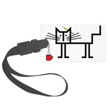 Coffee Cat Luggage Tag