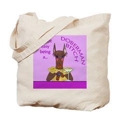 Red Doberman Bitch Tote Bag