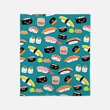 sushiflipflops Throw Blanket