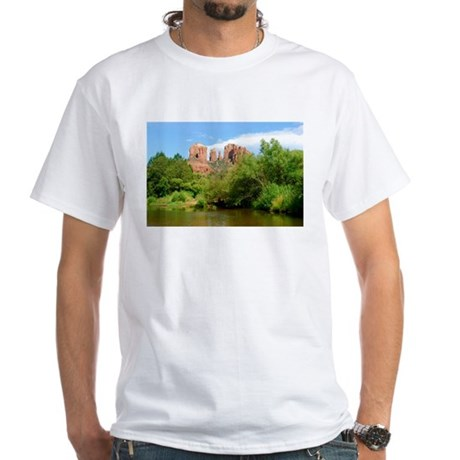 Castle Rock at Sedona White T-Shirt