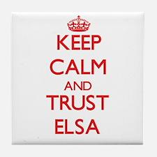 Keep Calm and TRUST Elsa Tile Coaster