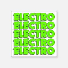 "ElectroMad Square Sticker 3"" x 3"""