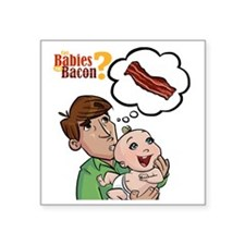"baconbaby_02 Square Sticker 3"" x 3"""