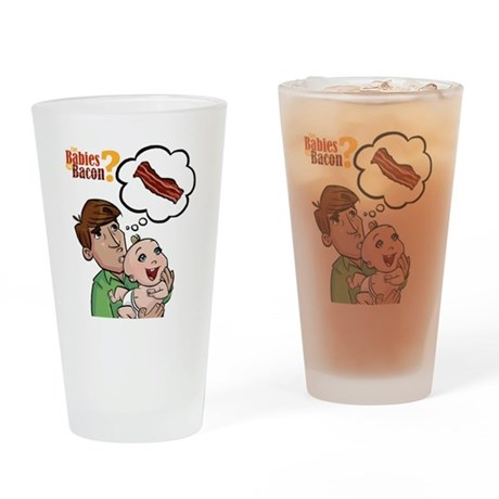 baconbaby_02 Drinking Glass