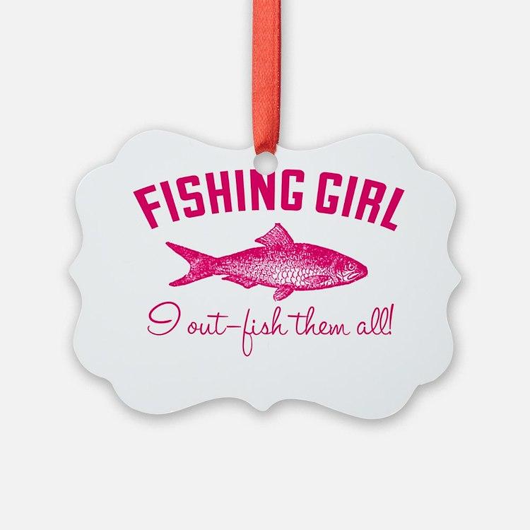 fishing girl Ornament