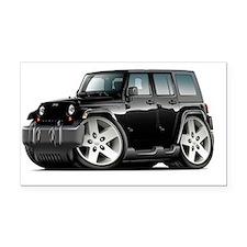 Sahara Black Car Rectangle Car Magnet