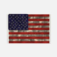 Metal US Flag Rectangle Magnet