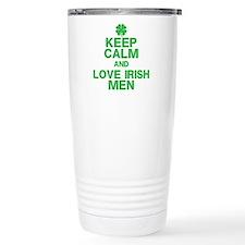 Keep Calm Love Irish Men Travel Mug