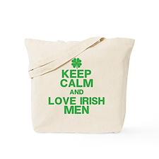 Keep Calm Love Irish Men Tote Bag