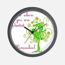Grow where planted Wall Clock