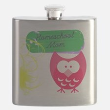 Homeschool Mom Owl Flask