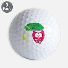 Homeschool Mom Owl Golf Ball