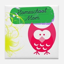 Homeschool Mom Owl Tile Coaster