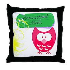 Homeschool Mom Owl Throw Pillow