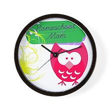 Homeschool Mom Owl Wall Clock