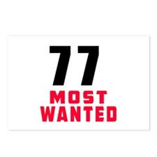 77 most wanted Postcards (Package of 8)
