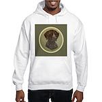 German Shorthair Head Study Hooded Sweatshirt