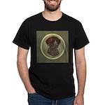 German Shorthair Head Study Dark T-Shirt